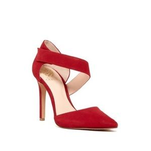 Vince Camuto Red Carlotte Pointy Toe Pump Heels